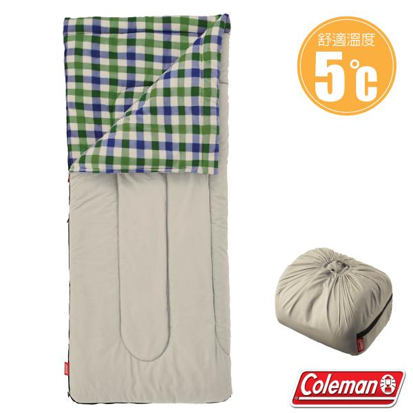 【美國 Coleman】新款 EZ 沙漠石刷毛睡袋(84×190cm.舒適溫度5℃以上).信封型睡袋.保暖化纖睡袋/內裡刷毛材質/附收納袋_CM-33803