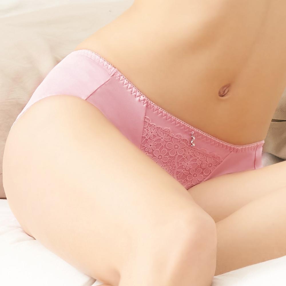 【EASY SHOP】柔情綺戀 中腰三角褲(花香粉)