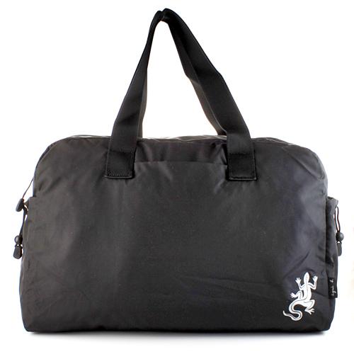 【agnes b.】輕量手提肩背蜥蜴旅行袋(大/黑色)