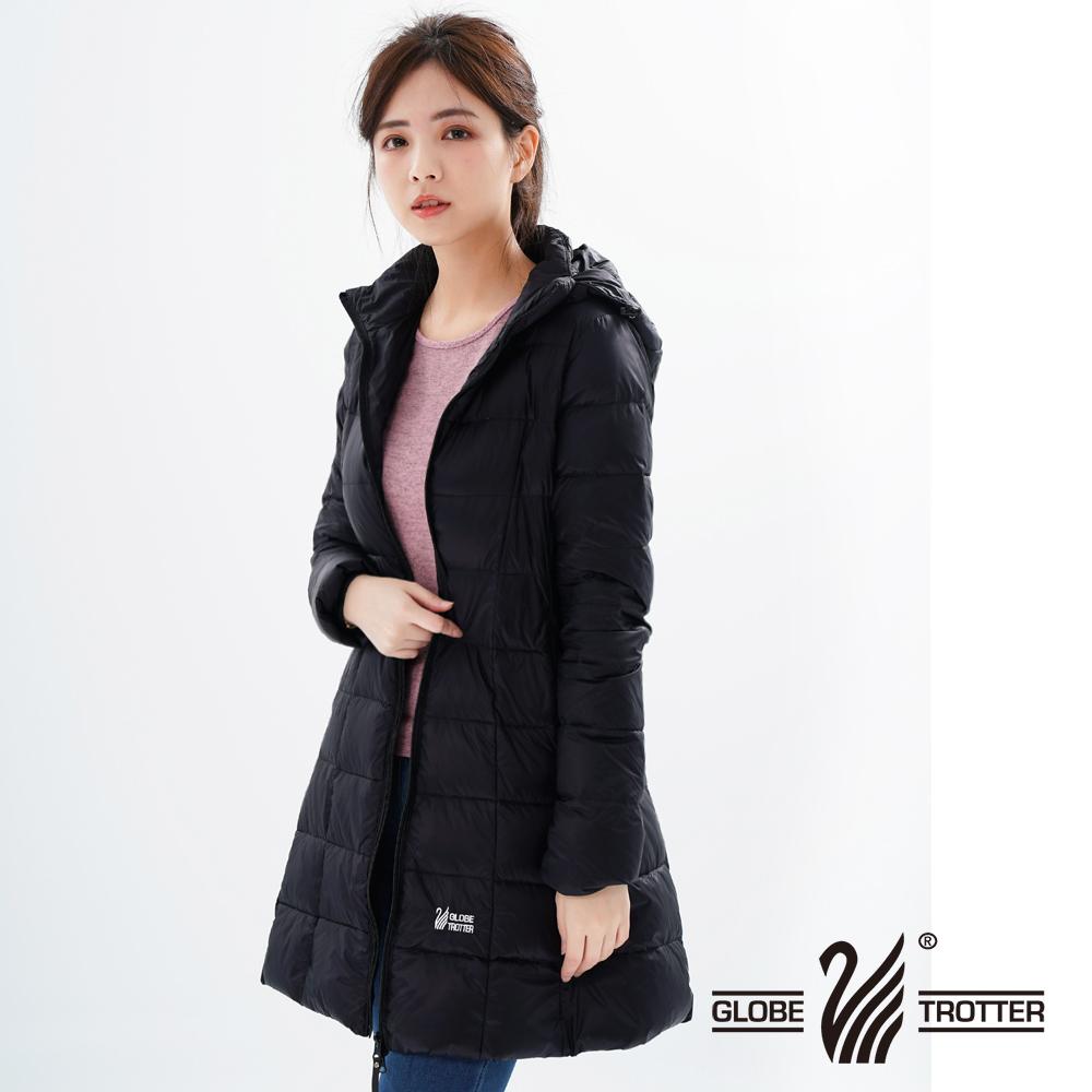 【遊遍天下】女款長版顯瘦防風防潑禦寒羽絨外套GJ22020黑色