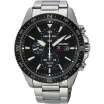 SEIKO精工 PROSPEX 太陽能計時手錶-黑x銀/44mm V176-0BA0D(SSC705P1)