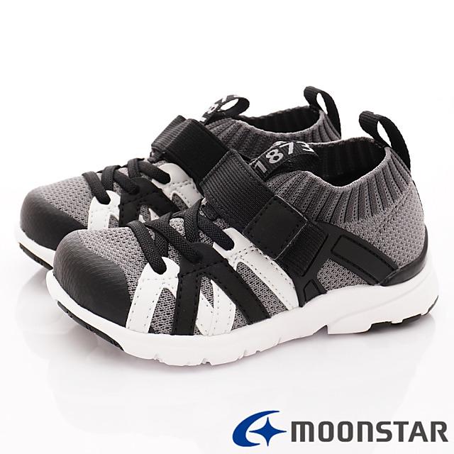 日本Carrot機能童鞋-襪套式休閒機能款-C22296黑-16-20cm