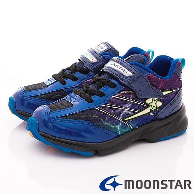 日本Carrot機能童鞋--閃電競速款-(SSJ8868藍-19-24cm)