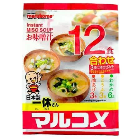 丸米一休味噌湯(12食)-綜合222G