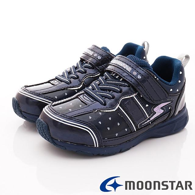 日本Carrot機能童鞋--甜心防潑運動款-(SSJ9095黑-18-24.5cm)