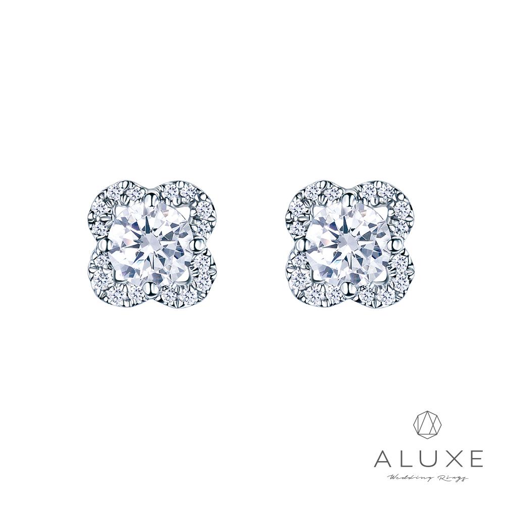 ALUXE 亞立詩 18K金 主鑽總重0.40克拉鑽石耳環