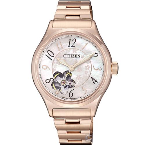 CITIZEN 星辰 春季櫻花機械錶(PC1007-65D)34mm