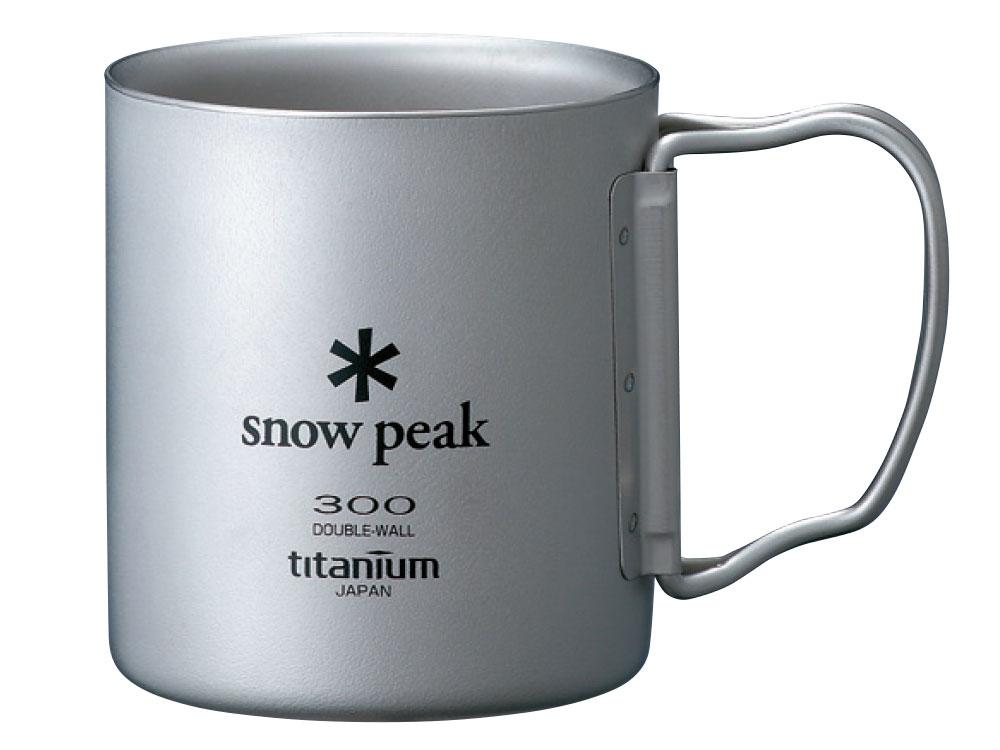 Snow Peak SP鈦金屬雙層杯-300折疊把 #MG-052FHR