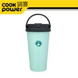 鍋寶 316超真空手提咖啡杯540ml-粉綠 SVC-6540G