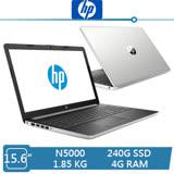HP 15-da0017TU 星河銀 N5000/4G/240G SSD/Win10/15吋