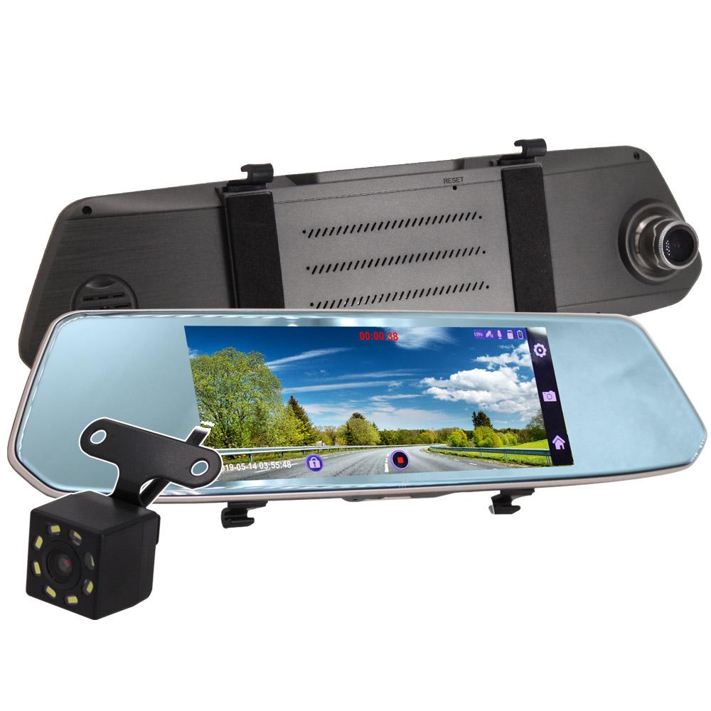 【IS愛思】RV-19XW 7吋圓弧切角邊觸控螢幕前後雙鏡頭行車紀錄器