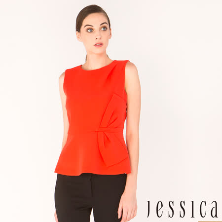 JESSICA 俐落修身無袖上衣(紅)