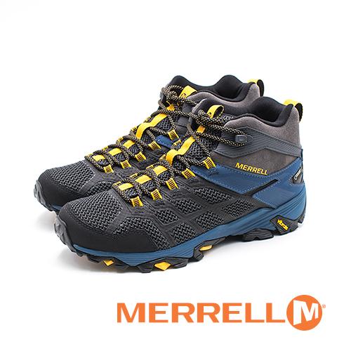MERRELL MOAB FST 2 MID GORE-TEX郊山健行鞋 男鞋-鐵灰土耳其藍