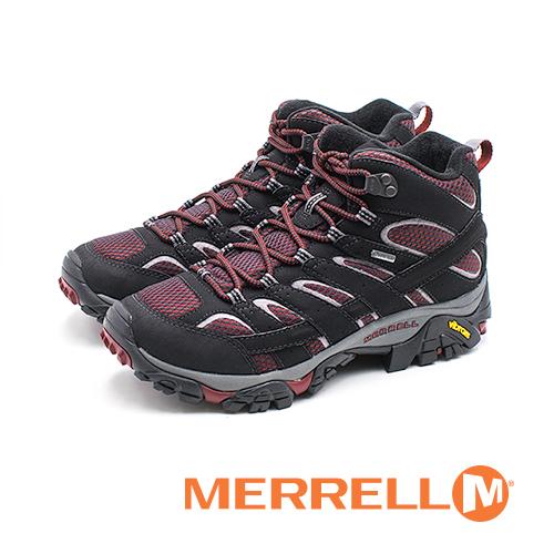 MERRELL MOAB 2 MID GORE-TEX郊山健行鞋 男鞋-紫紅黑