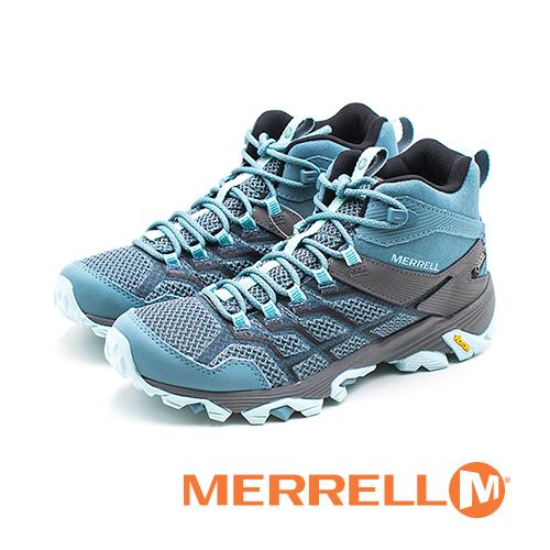 MERRELL MOAB FST 2 MID GORE-TEX郊山健行鞋 女鞋-藍