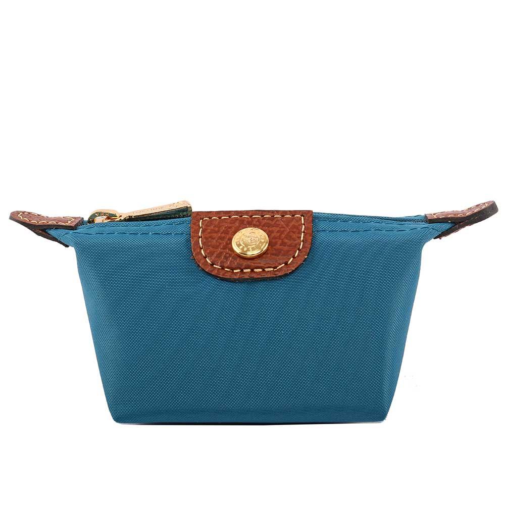 【LONGCHAMP】小零錢包(孔雀藍) 3693089A56