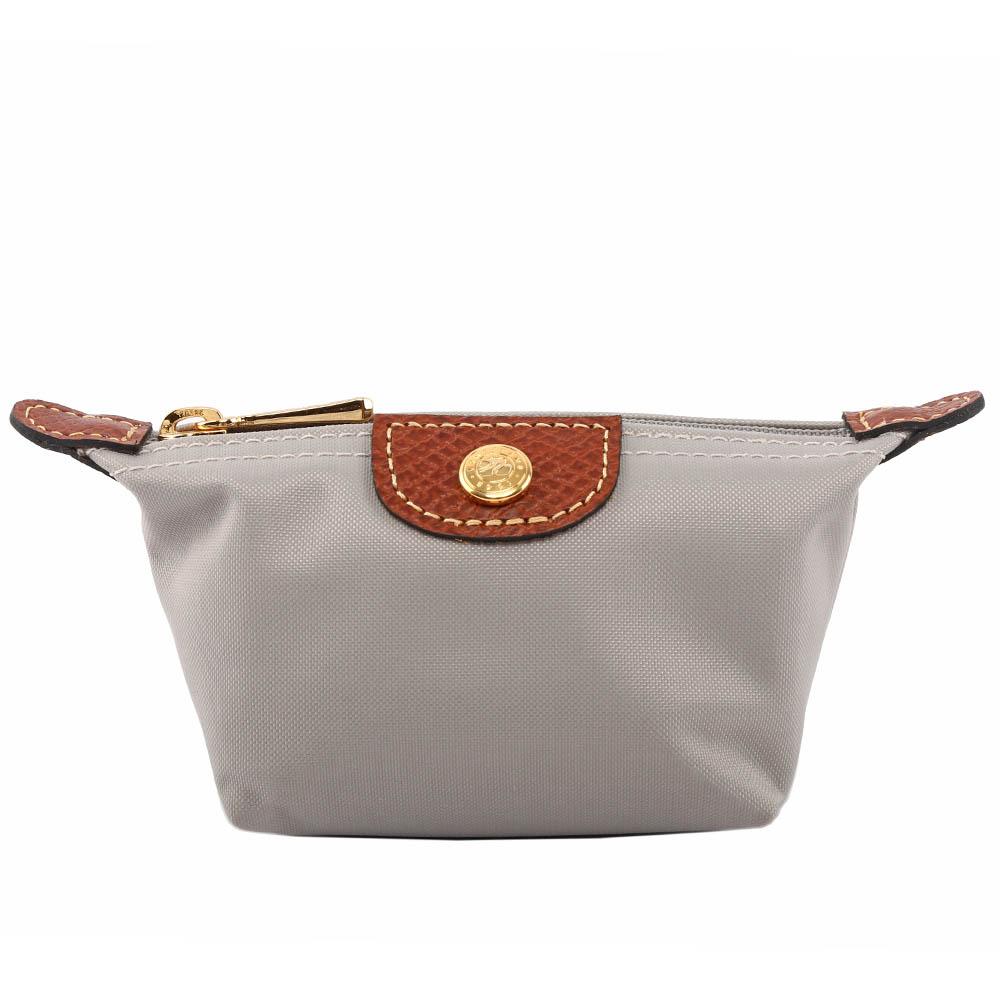 【LONGCHAMP】小零錢包(灰褐色) 3693089A59