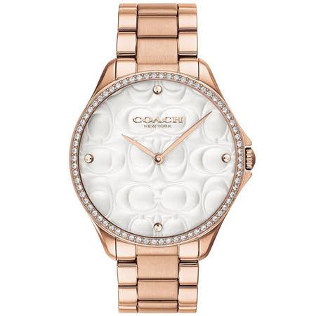 COACH  優雅名媛風晶鑽腕錶