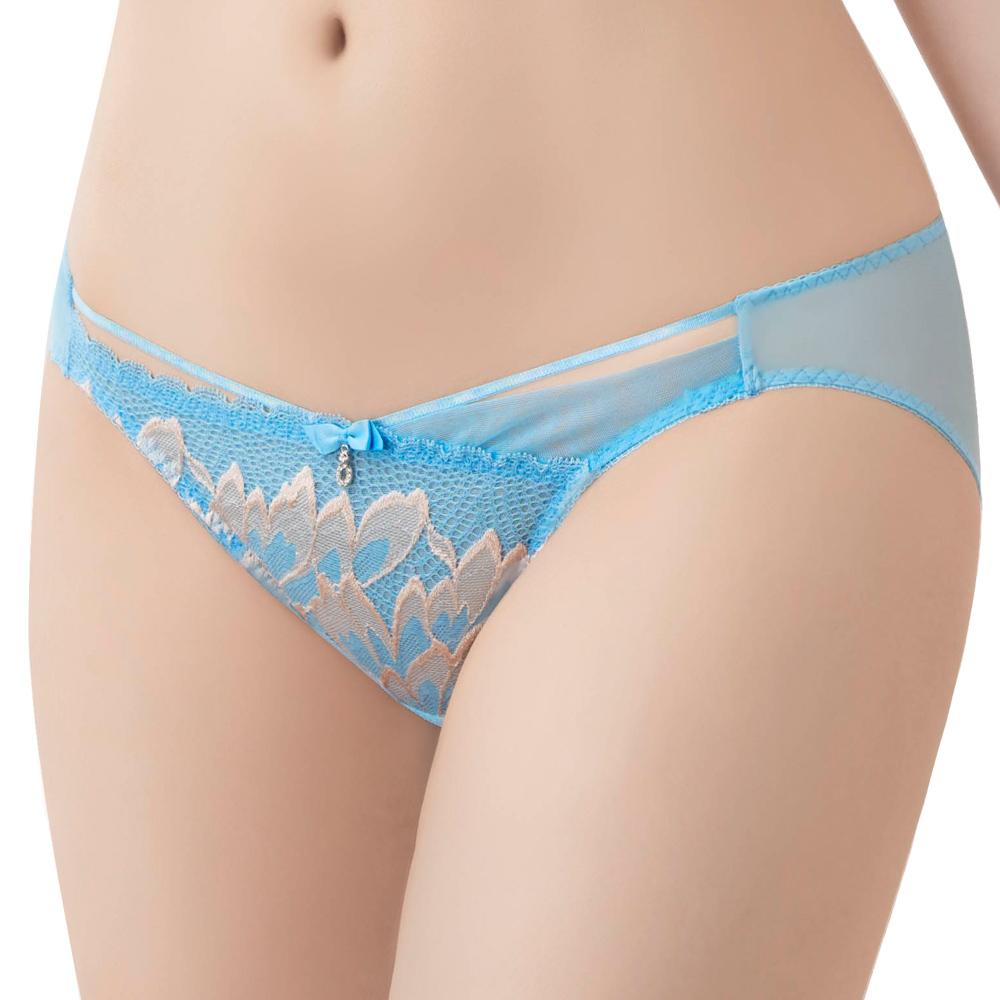 【思薇爾】】撩波羽晶伶系列M-XL蕾絲低腰三角內褲(湛浠藍)