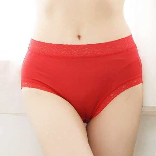 【Chlansilk闕蘭絹】舒適親膚100%蠶絲內褲-88905(紅)
