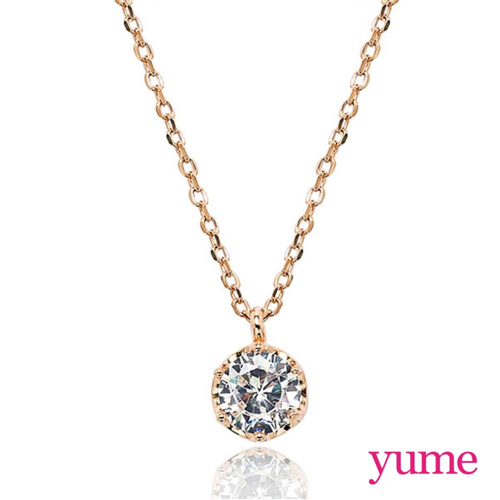 【YUME】小皇冠單鑽項鍊