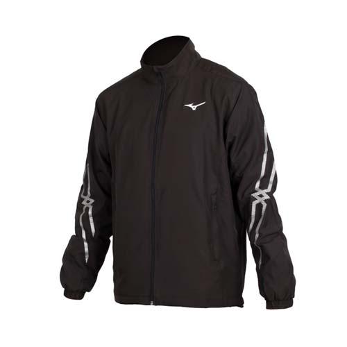 (男) MIZUNO 平織運動外套-立領外套 防潑 美津濃 黑銀白