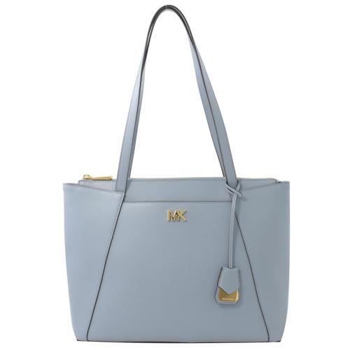 MICHAEL KORS 專櫃款 Maddie 防刮皮革肩背托特包.粉藍