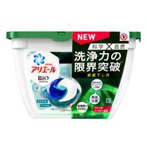 買一送一【P&G】日本最新一代3D柔軟洗衣球18入-消臭(綠)