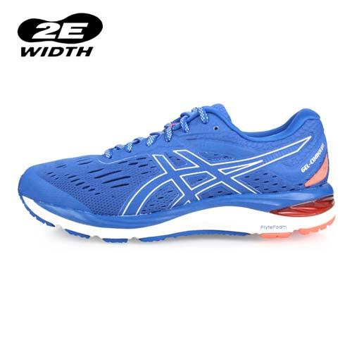 (男) ASICS GEL-CUMULUS 20 慢跑鞋-2E-寬楦 路跑 亞瑟士 藍螢光橘
