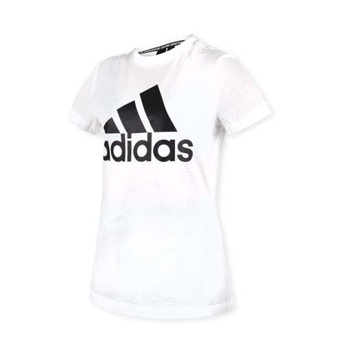 (女) ADIDAS 短袖T恤-短T 慢跑 路跑 愛迪達 白黑