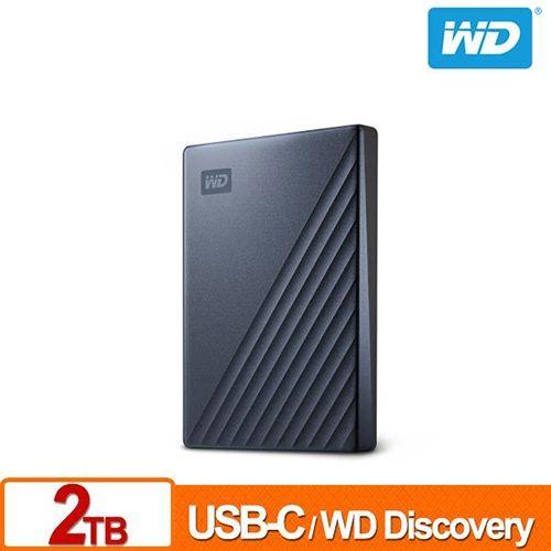 WD My Passport Ultra 2TB 星曜藍 2.5吋 USB Type-C 外接硬碟 WDBC3C0020BBL-WESN