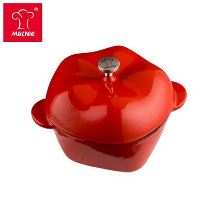 【MULTEE摩堤】11cm鑄鐵蘋果鍋-紅