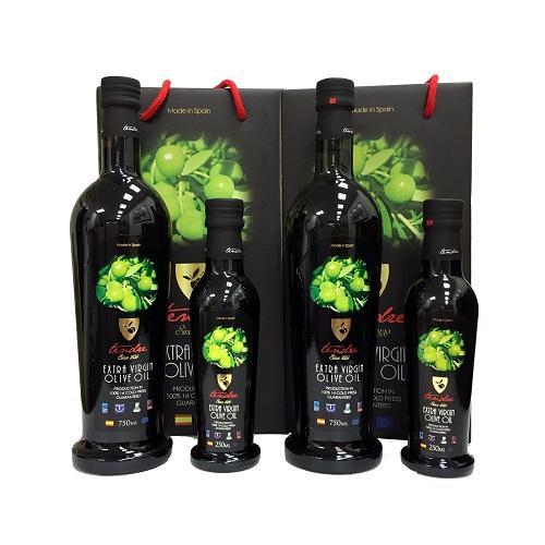 西班牙添得瑞 100%初榨冷壓(精選)頂級橄欖油 750ml*2+250ml*2