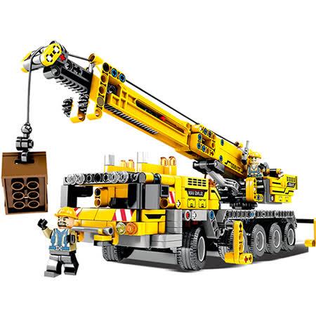 665pcs 大型立體拼裝吊車工程組