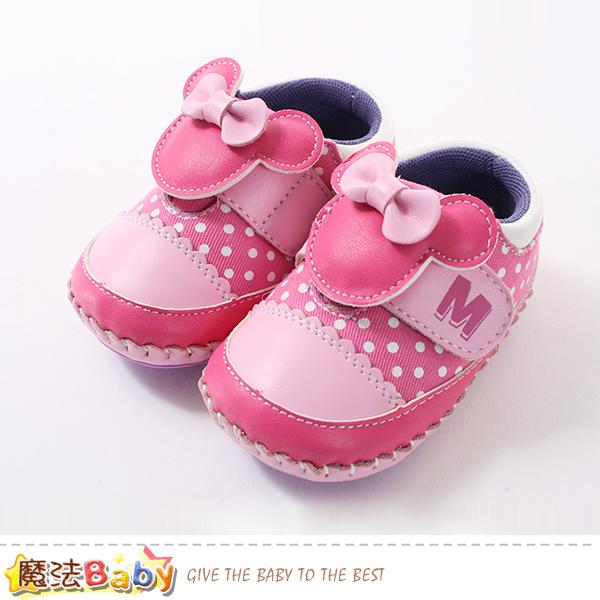 魔法Baby 女寶寶鞋 迪士尼米妮正版真皮中底女童鞋 sk0655
