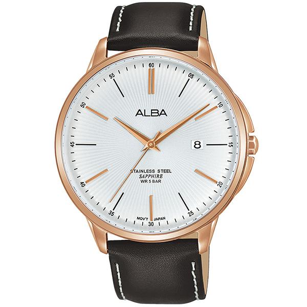 ALBA 雅柏 PRESTIGE系列 潮流時尚手錶-42.5mm/白x玫瑰金(VJ42-X267J/AS9H36X1)