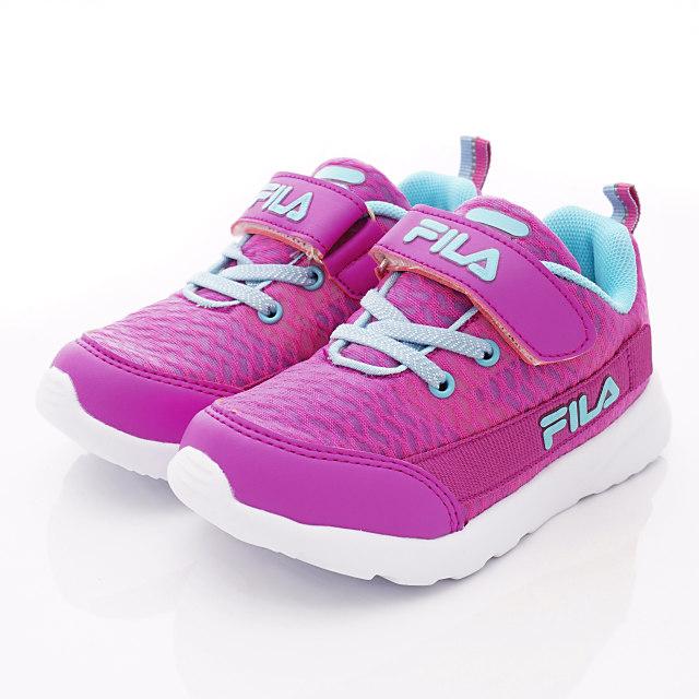 FILA頂級童鞋-輕量慢跑款-424T-223桃藍-(17--24cm)