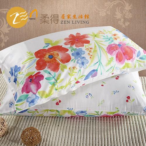 【Zen 柔得寢飾】繽紛彩夏 60支天絲信封枕套一對CLC02U2