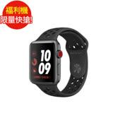 福利品 Apple Watch Series 3 LTE Nike+ 42mm太空灰鋁/黑運動(MQMF2TA/A) (七成新B)