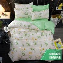 eyah 宜雅超細雲絲絨雙人床包枕套3件組