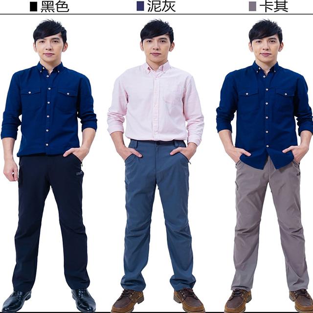 【戶外趣】年度新款-男薄款耐磨多口袋防潑水彈性防曬長褲(HPM013 泥灰/卡其/黑色 三色可選)