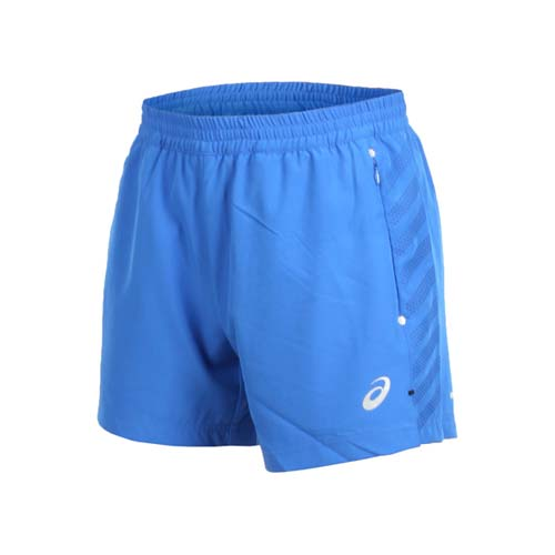(男) ASICS 慢跑短褲-三分褲 訓練 慢跑 路跑 亞瑟士 藍銀