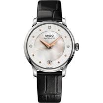 MIDO 美度 BARONCELLI 永恆系列套錶組-珍珠貝x黑錶帶 M0392071610600