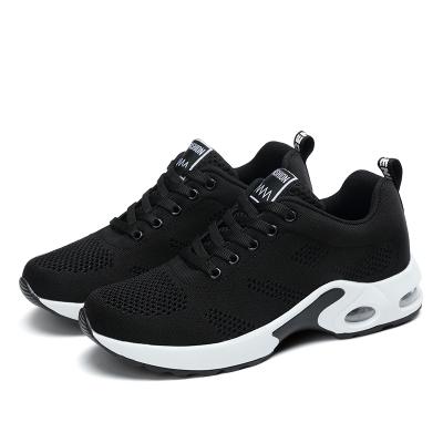 【Maya easy】慢跑運動輕量透氣網款布鞋/彈力運動鞋-黑色