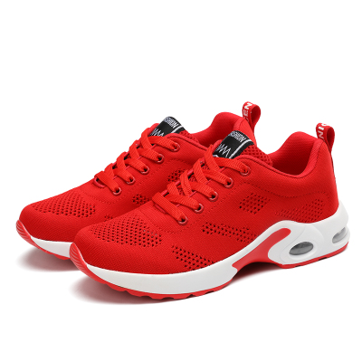 【Maya easy】慢跑運動輕量透氣網款布鞋/彈力運動鞋-紅色