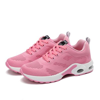 【Maya easy】慢跑運動輕量透氣網款布鞋/彈力運動鞋-粉色