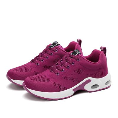 【Maya easy】慢跑運動輕量透氣網款布鞋/彈力運動鞋-紫色