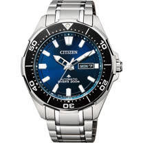 CITIZEN 星辰 PROMASTER 限量鈦200米潛水機械錶-藍x銀/43.5mm NY0070-83L