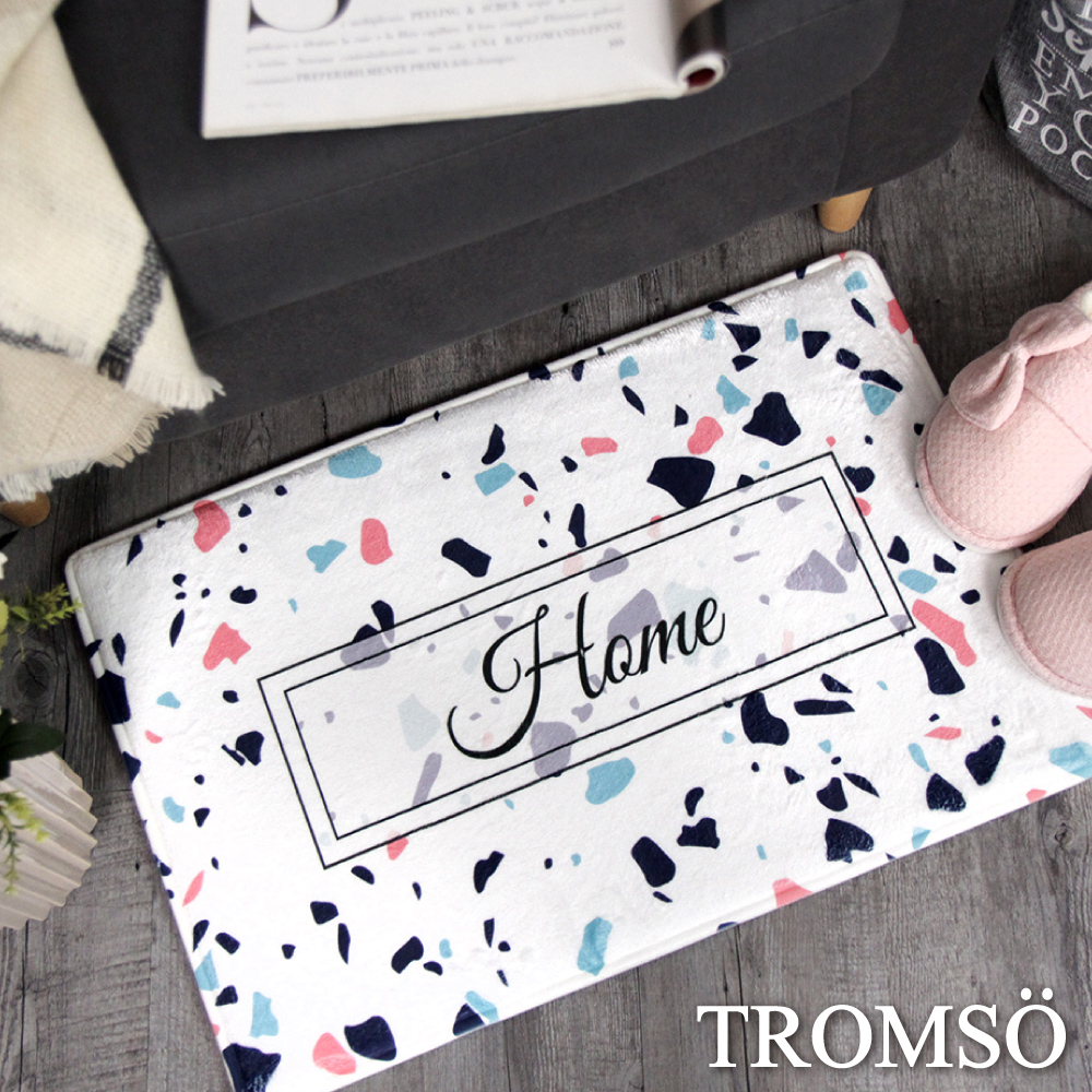 TROMSO簡單生活超柔軟地墊-M68亮白繽紛