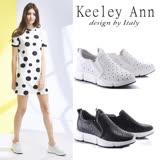 Keeley Ann簡約漫步~洞洞造型質感全真皮休閒鞋(2色任選)